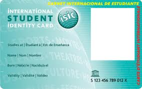 International student card(ISIC)
